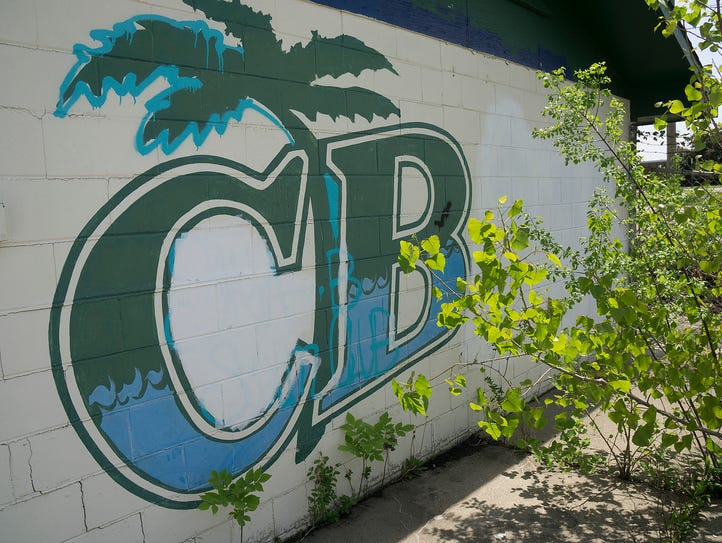The long-closed CB Swim Club is being demolished for