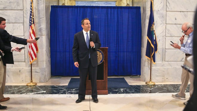 Ky. Gov-elect Matt Bevin told media in the State Capitol Friday says the people of Kentucky have 'clearly spoken. 106 out of 120 counties have said they want to chart a different direction. We have a clear mandate from people.'