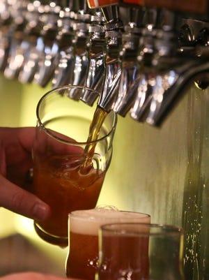 Beer taps at 515 Brewing