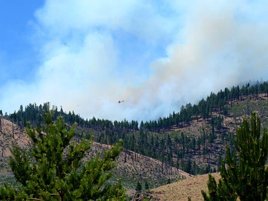 Evans Fire burns in southwest Reno