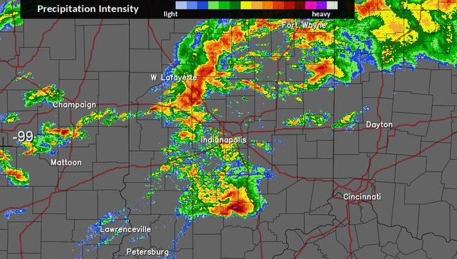 Sunday radar, 2 p.m.