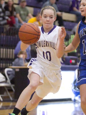 Ollie Updike (10) and the Fowlerville girls take on Pinckney today in Chelsea.