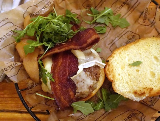 Apple and brie burger at Arizona Wilderness Brewing Co.