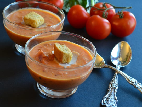 This Roasted Tomato Basil Soup was my husband's favorite,