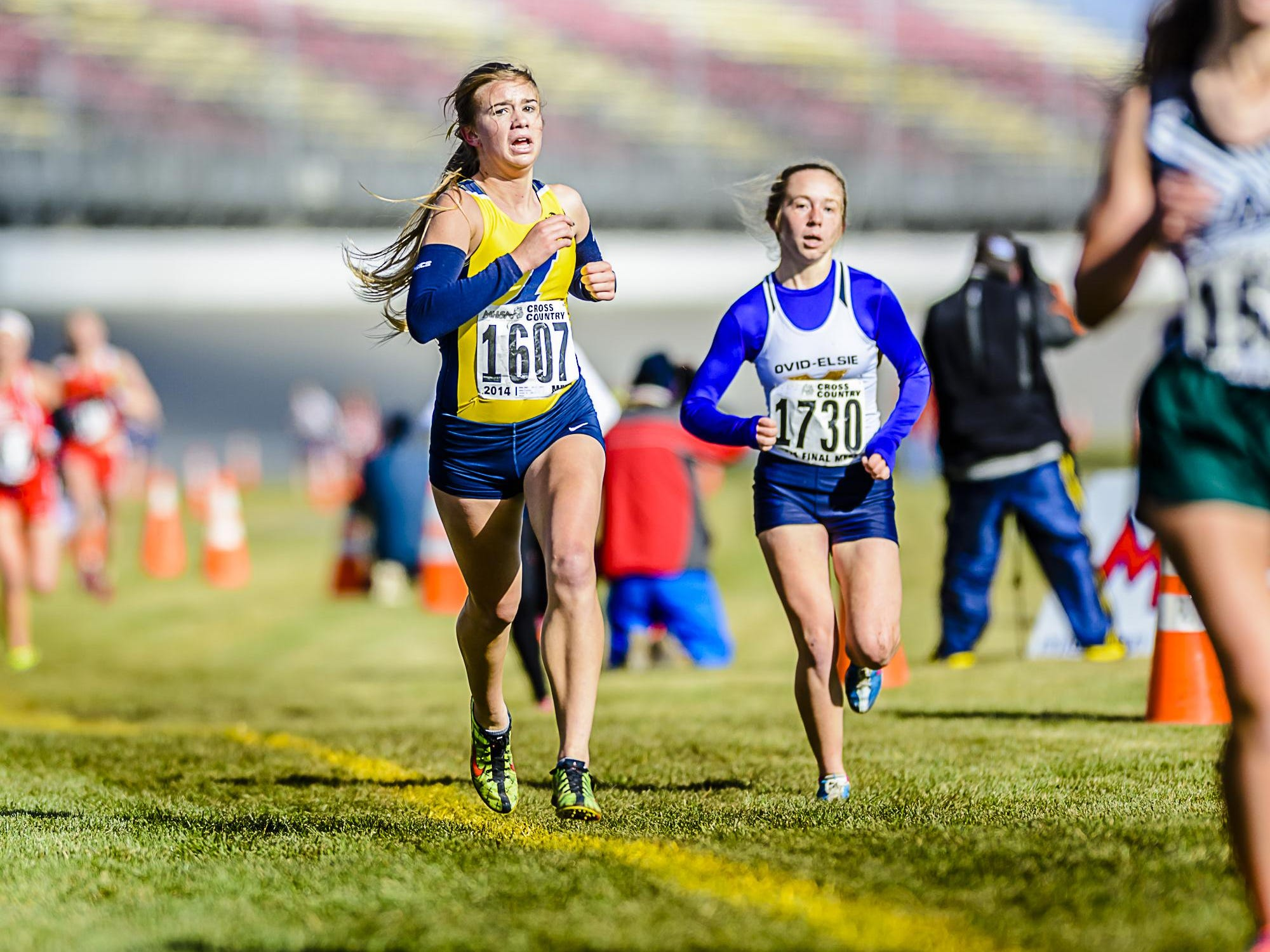 Junior Courtney Allen has placed first at four races this fall for Ithaca.