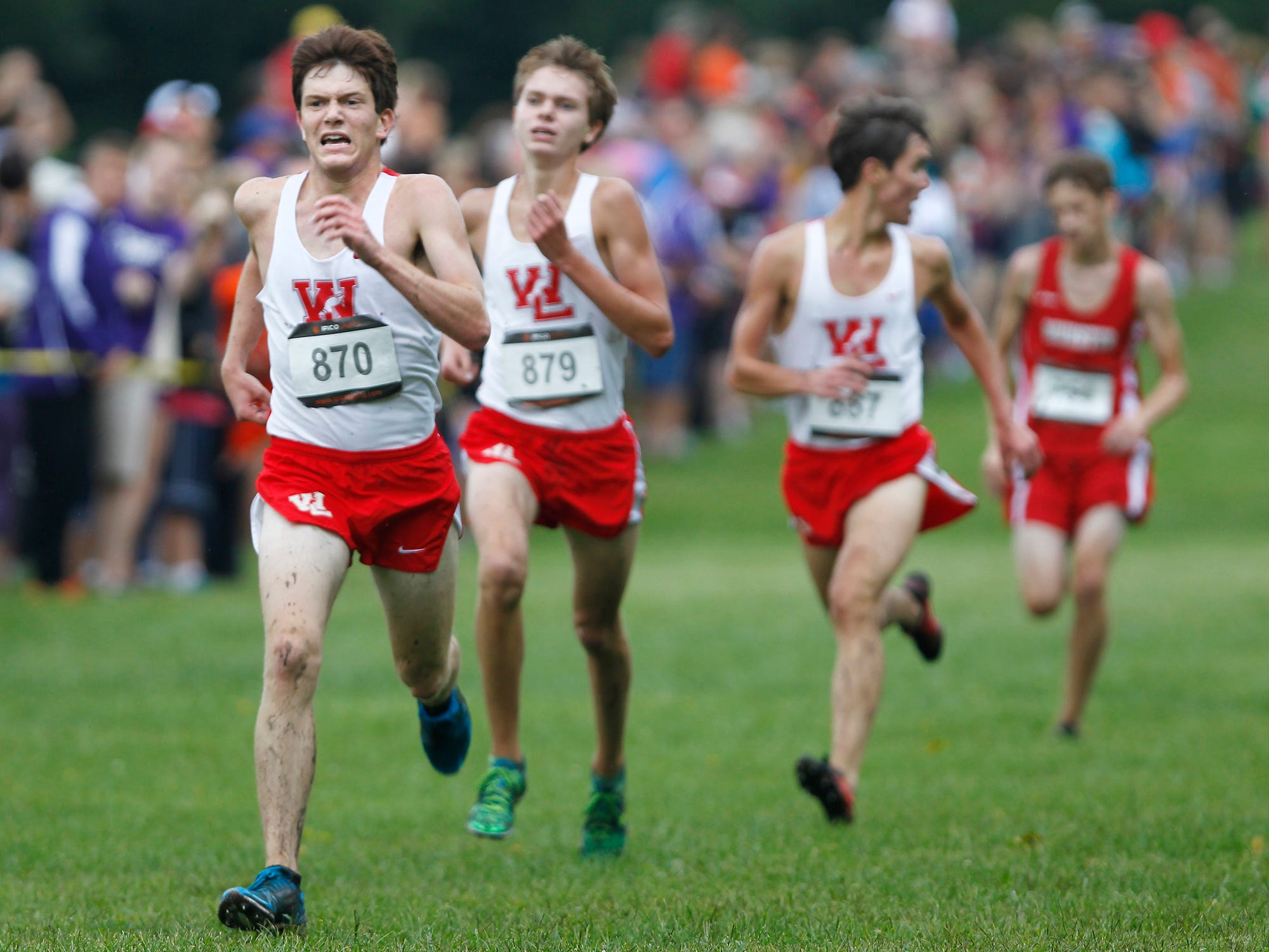 Jake Cohen, foreground, will continue his running career at Michigan State University.