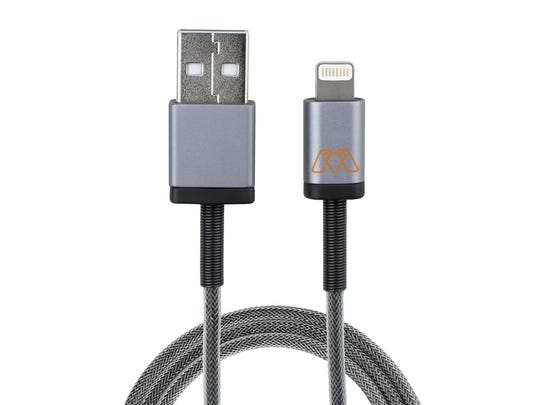 The MOS Spring audio 3.5mm auxiliary cable will keep cords organized and fray-free.