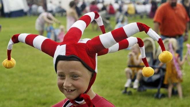 Andrew Schniker, then 8, of Des Moines was a visiting jester at the Des Moines Renaissance Faire in 2004.
