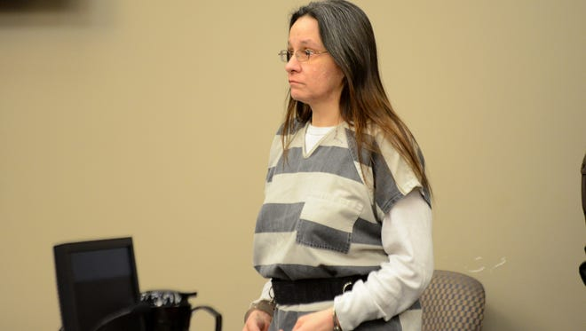 """Cari Wright enters Judge Joyce Draganchuk's courtroom on Wednesday, Jan. 11, 2017 at the Veterans Memorial Courthouse in Lansing. Wright pleaded guilty, but mentally ill to second degree murder. Wright admitted she did not feed her 16-year-old daughter, Hannah Warner, for """"a couple weeks"""" and that she didn't try to get help before her daughter starved to death."""
