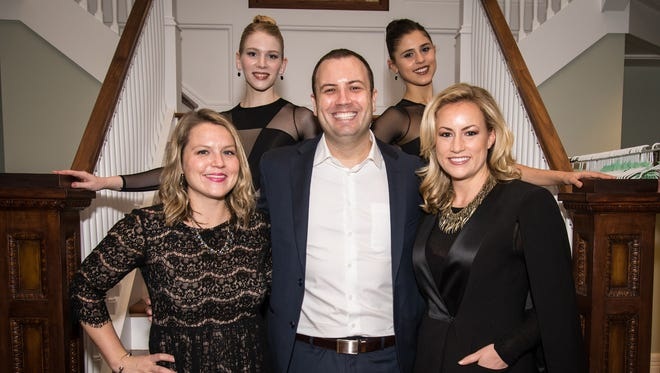 Soiree de Corps Chairs Katie Reedy, George Ritzen and Laura Hutfless, front row, and Nashville Ballet second company member Linnea Swarting, Nashville Ballet second company member Manuela Lavalle, back row.