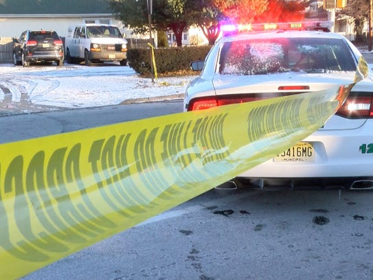 A Long Branch police car blocks Wall Street Monday