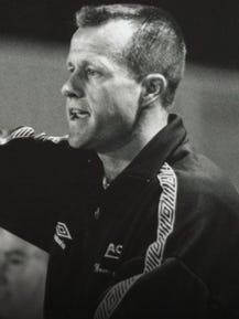 Mick Lyon won four regular-season and five Missouri Valley Conference women's soccer tournament titles in six years at the University of Evansville.