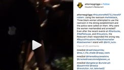 Video posted to Instagram shows the women on the ground,