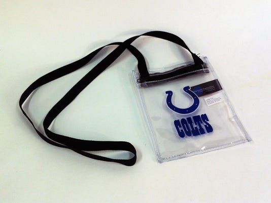 Colts clear pouch