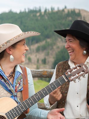 Judy Corder and Jennifer Epps make up two-thirds of the Crazy Cowgirl Band and will perform in concert at 6 p.m., Monday at Luna Rossa Winery, 3710 W. Pine St.