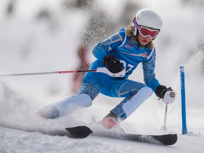 Aurora Railsback from Brighton competes in the Youth