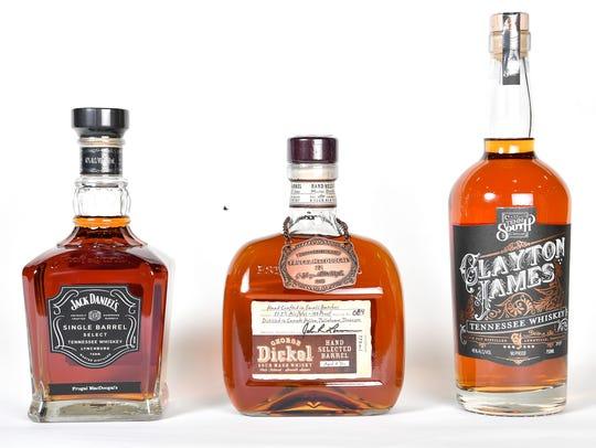 Jack Daniel's, George Dickel and Clayton JamesTuesday