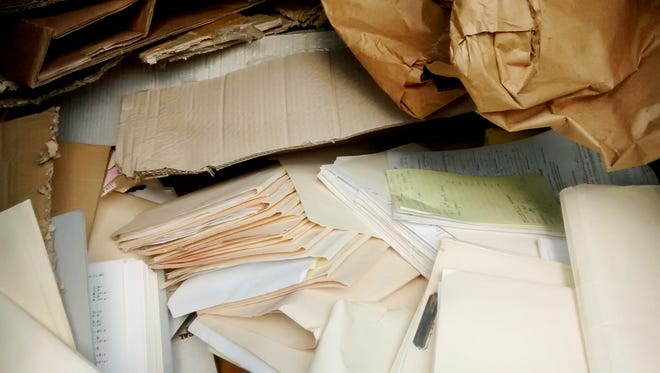 Files from the Oil City Housing Authority were placed inside of a dumpster.