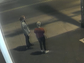 Police say the person on the left is suspected of vandalizing