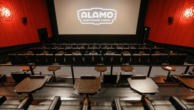 A look at one of the theaters inside of Alamo Drafthouse Cinema.