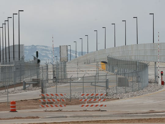 The new bridge at the Tornillo port-of-entry is fenced off awaiting the completion of construction on the Mexican side of the span.