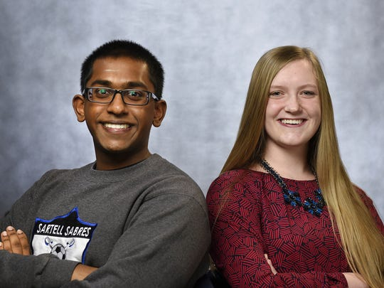 Gopi Ramanathan and Hannah Yackley were the first two winners of the 2 Under 20 awards.