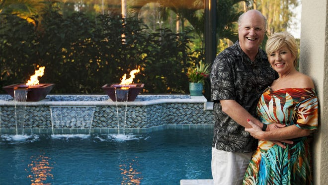 Steve Engstrom and Joy Gugliuzza at their home in Bonita Springs.