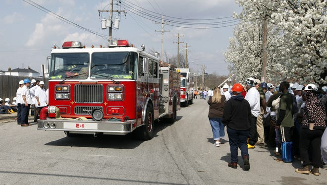 Firetrucks swarmed Butchertown after an ammonia gas leak was reported in 2010.