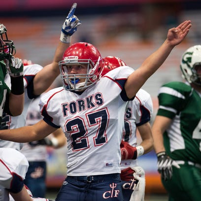 Chenango Forks crushed Greenwich 42-7 inside the Carrier Dome in Syracuse to win their third straight Class C state championship on Friday, Nov. 27, 2015.