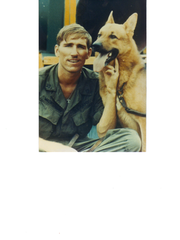 Jim Wachtendonk, a Wisconsin Vietnam dog handler, with