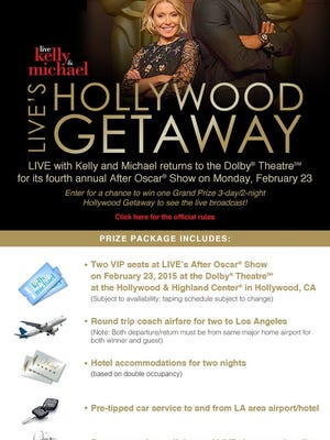 Live's Hollywood Getaway Sweepstakes