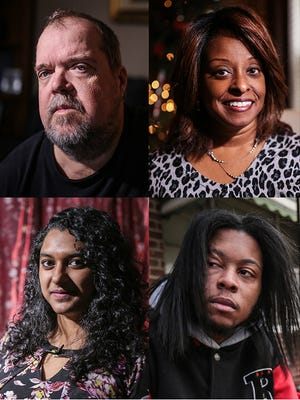 Clockwise from upper left: Randall Shelton, 63, of Allen Park; Cecile Taylor, 52, of Canton; Ryan Wylie, 26, of Detroit and Syeda Arbab, 21, of Canton.