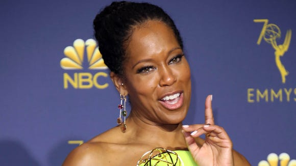 Regina King recounted the tale of her lipstick malfunction
