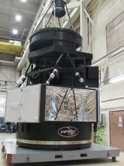 This is a mockup of the WFIRST spacecraft. It is located