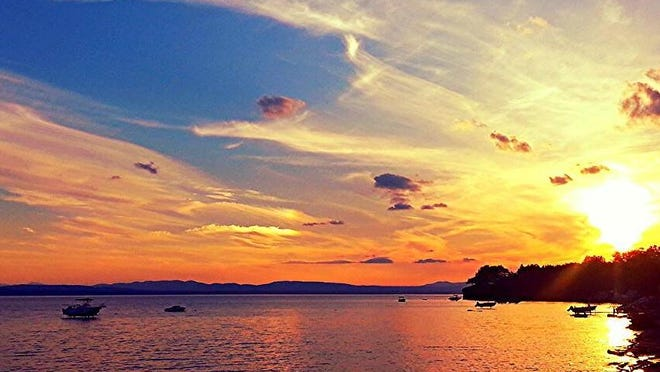 A Lake Champlain sunset is captured.