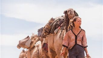 """In this image released by The Weinstein Company,  Mia Wasikowska appears in a scene from """"Tracks."""""""