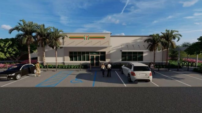 Rendering of the proposed east Boynton 7-Eleven project, which also proposes to build a gas station on the site.