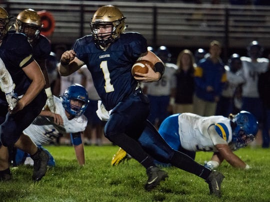 Noah Dryden was a two-year starting quarterback for the Golden Gales. As a team captain, he helped lead Lancaster to the Division I state playoffs two years i a row.