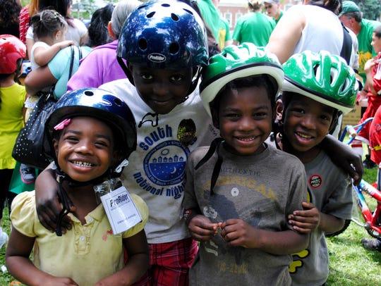 Kids at Bike Day will receive free bike helmets and
