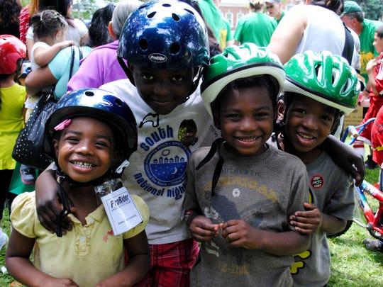 Kids at Bike Day will receive free bike helmets and