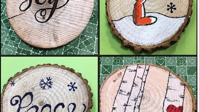 """Crafters will turn wood slices into clever holiday ornaments at the 10 a.m. and 1 p.m. Saturday, Dec. 9, Crafternoon programs at the Fond du Lac Public Library. Free; supplies provided. Open to adults and teens age 13 and older. Space is limited. Registration online only at fdlpl.org, click """"Calendar."""""""