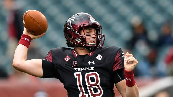 Temple quarterback Frank Nutile of Wayne will lead the Owls against Florida International at the Bad Boy Mowers Gasparilla Bowl.