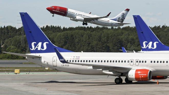 Planes at Arlanda Airport in Stockholm, Sweden, June 14, 2016.