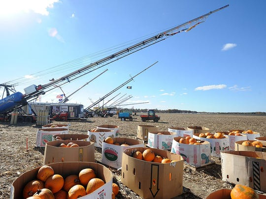 Pumpkins are ready to be launched at the World Championship Punkin Chunkin contest in Bridgeville on Nov. 3, 2013. A lawsuit filed about the event has been dismissed.