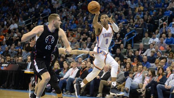 Russell Westbrook had a career-high 20 assists in Wednesday's