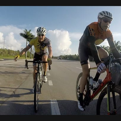 sA photo from a cyclist's GoPro camera shows a motorist