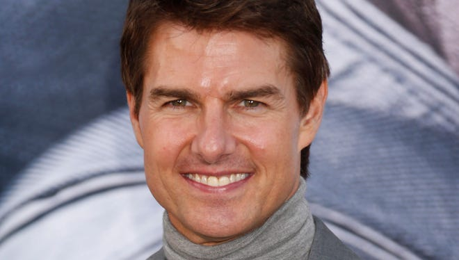 """Tom Cruise arrives at the L.A. premiere of """"Oblivion"""" at the TCL Chinese Theater in Los Angeles in April."""