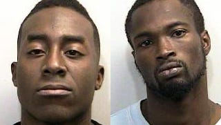Jeff L. McBryde Jr., left, and Lyrone Lumpkin both face two counts of attempted murder stemming from an October shooting.