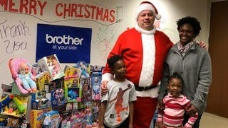 Brother helped donate toys to Toys for Tots this year.