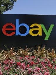 Outside eBay headquarters in San, Jose.